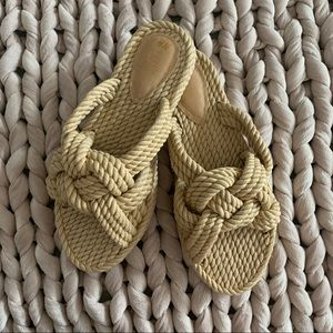 Tan Rope Braided Sandals
